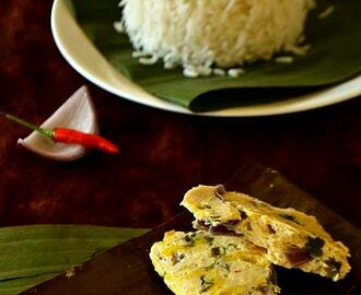 Chicken Paturi / Chicken wrapped in Banana leaves