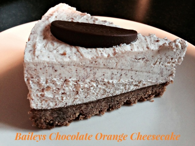 Baileys Chocolate Orange Cheesecake