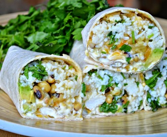 Meatless Monday: Black Eyed Bean Vegetarian Burrito