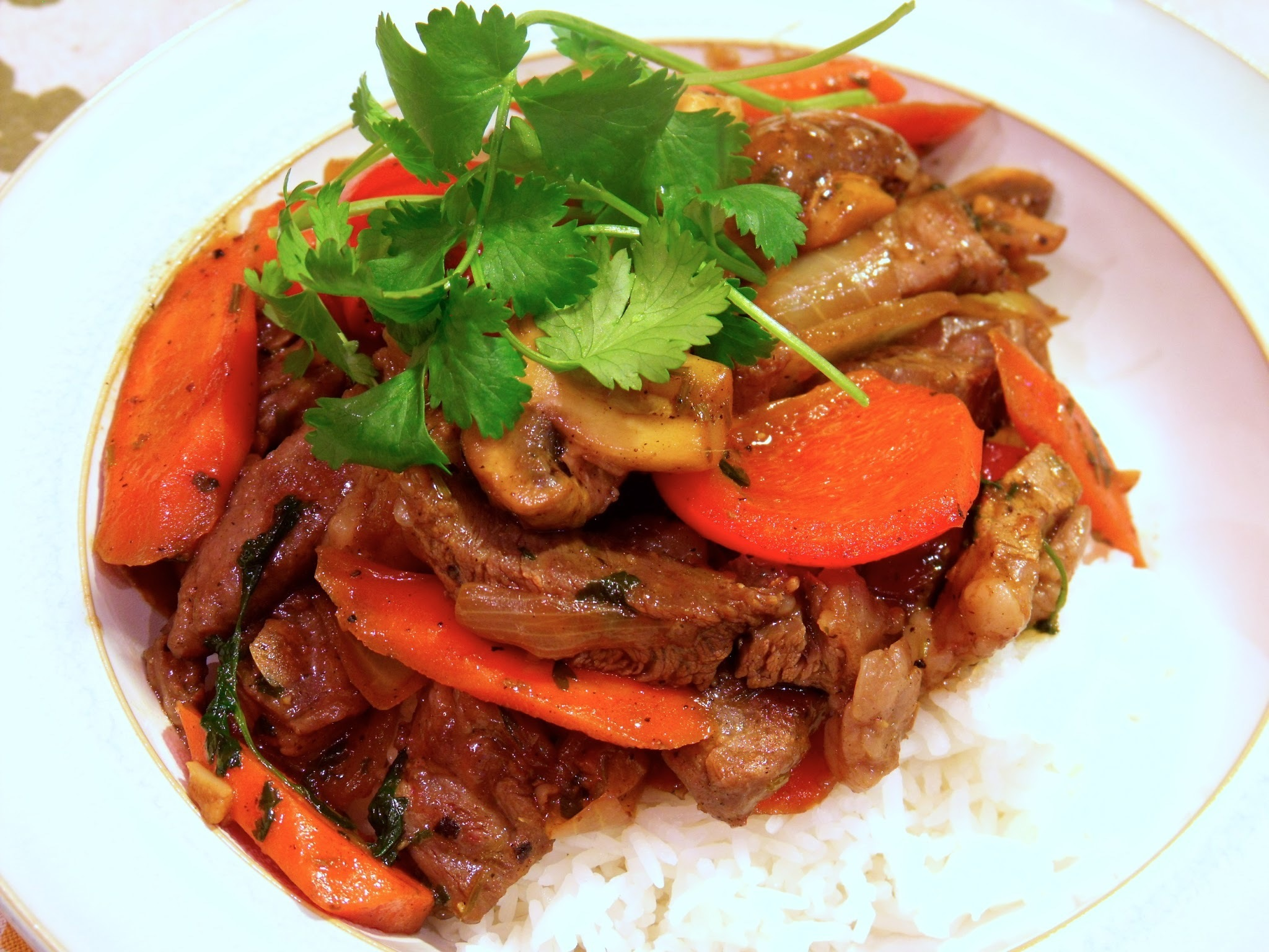 ...Black Pepper Beef Stirfry
