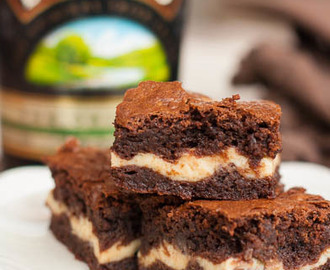 Bailey's Irish Cream Cheesecake Brownies