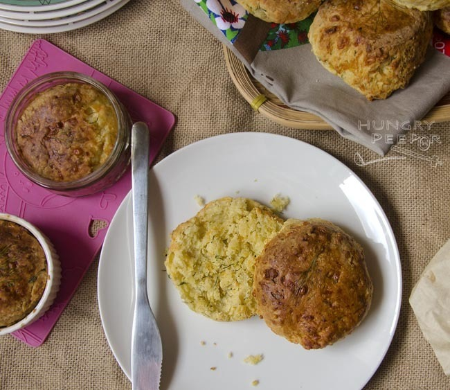 Yummy Baked Scones With Herbs & Loads Of Cheese