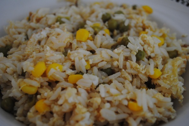 Homemade Egg Fried Rice recipe for students