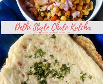 Chole Kulcha Delhi Style~Street Food #BreadBakers
