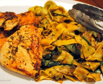Herby Chicken Breast and Summer Squash Sauté