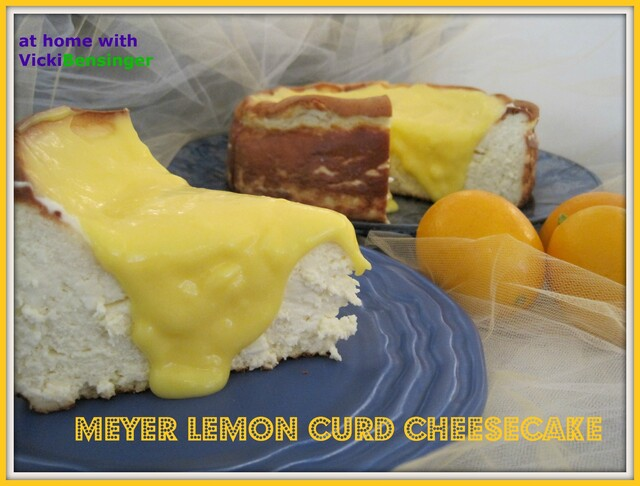 Meyer Lemon Curd Cheesecake!