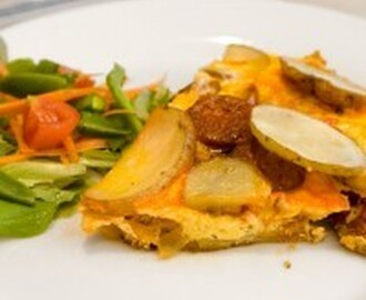 Chorizo and Potato Frittata #SundaySupper