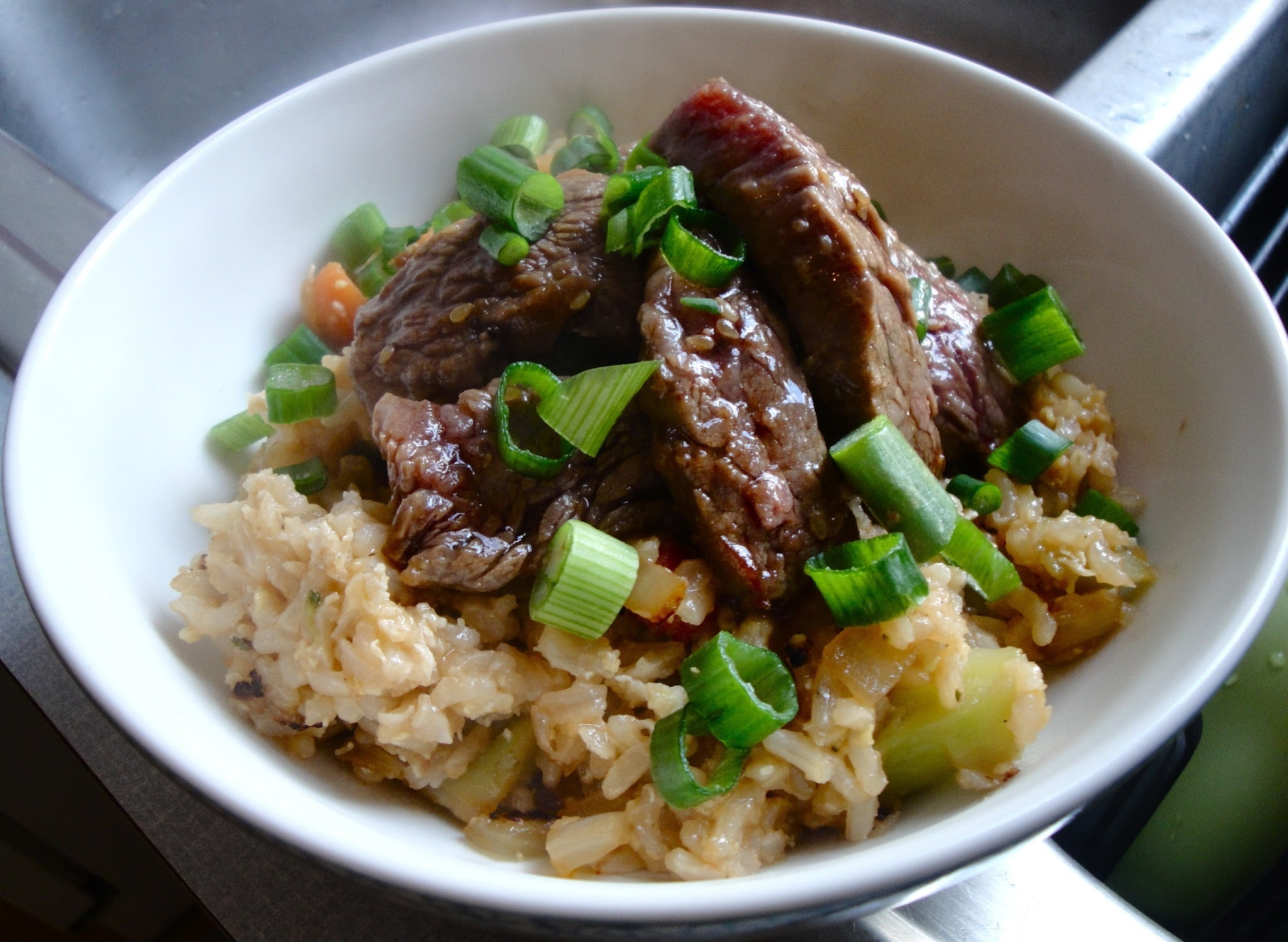 Sticky Beef & Rice Bowl