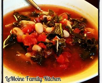 White Bean, Chicken, Tomato & Kale Soup