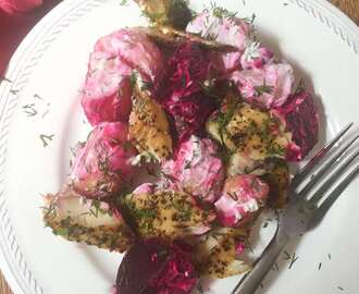 Beetroot, Potato and Smoked Mackerel Salad