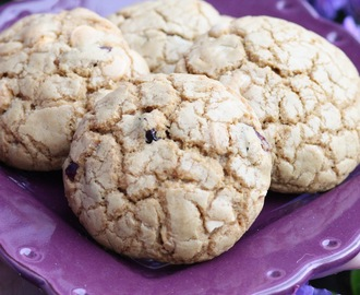 Cookies aux cranberries et au chocolat blanc