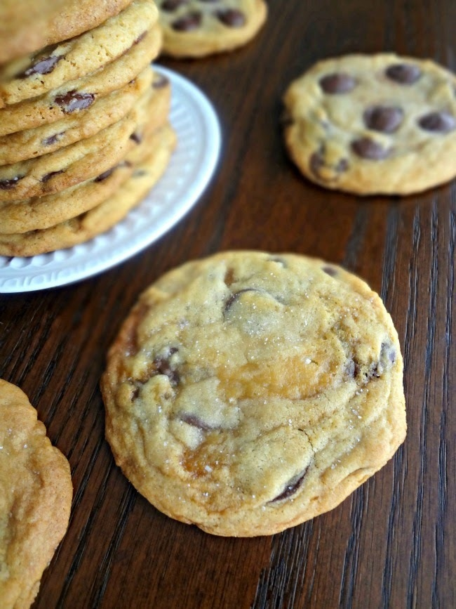 Salted Caramel Dark Chocolate Chip Cookies