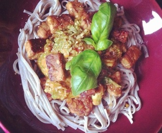 VEGAN VIBES: Asian food, Noedels met....pindapasta, broccoli en tempeh!!!