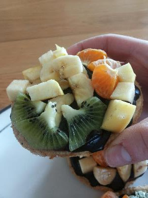 Mini Chocolate Fruit Pizza