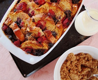 Ten Meals for Under Ten Dollars: Berry, Bread and Butter Pudding