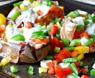 Sweet Potato with Mozzarella & Sweet Peppers