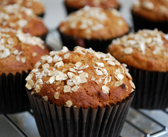 Recipe: Sweet orange, date and oat muffins