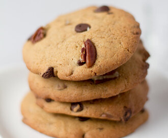 Pecannoten chocolate chip cookies