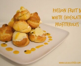 Passion Fruit & White Chocolate Profiteroles – Bake of the Week