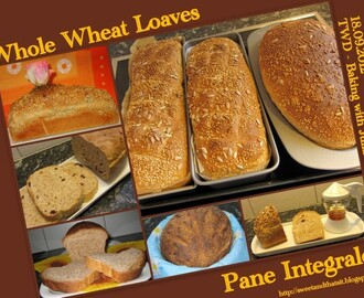Whole Wheat Loaves - Pane Integrale - Baking with Julia