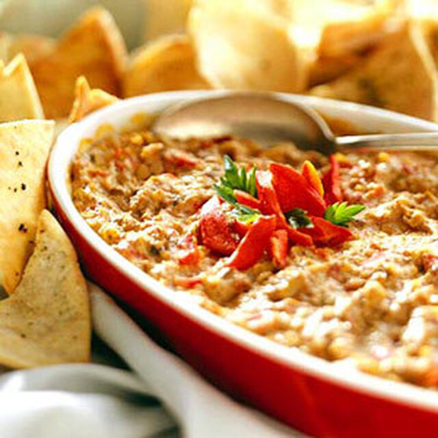 Hot Artichoke and Roasted Pepper Asiago Cheese Dip