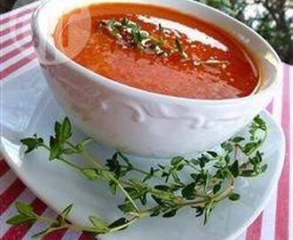 Roasted Red Pepper and Cannellini Soup