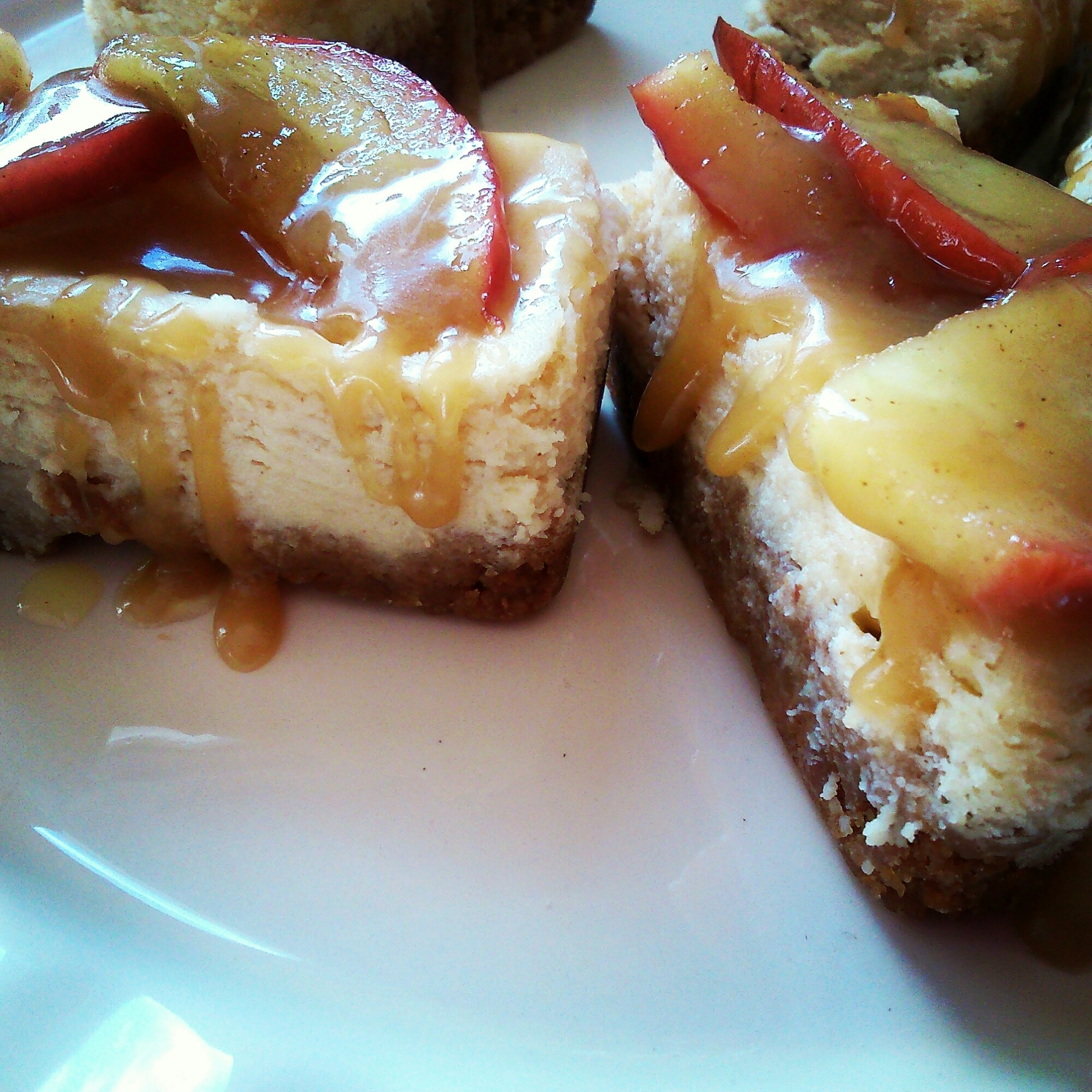 Mini toffee apple cheesecakes