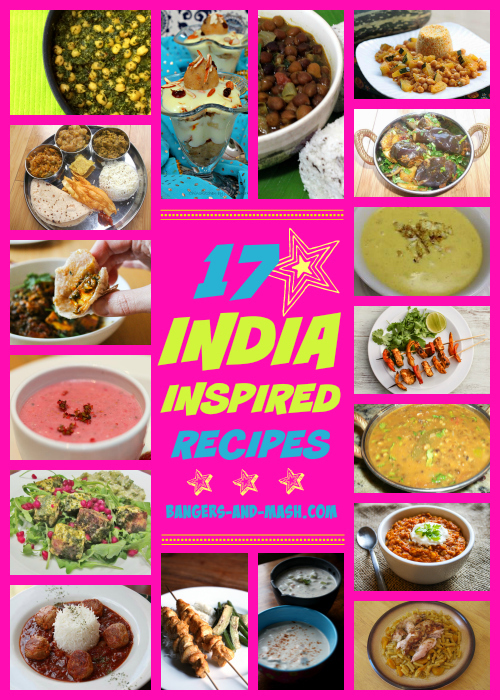 17 recipes inspired by India