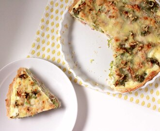 Quiche met broccoli, cottage cheese & tonijn