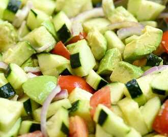 Asian Cucumber Tomato Avocado Salad