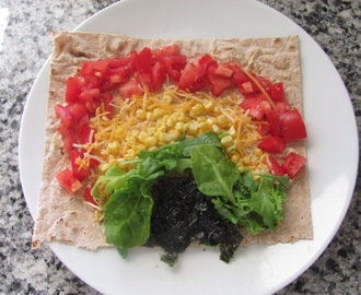 Kid's Rainbow Veggie Wrap
