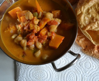 Pompoencurry met kikkererwten – pumpkin curry with chickpeas (GF-DF-SF-V)