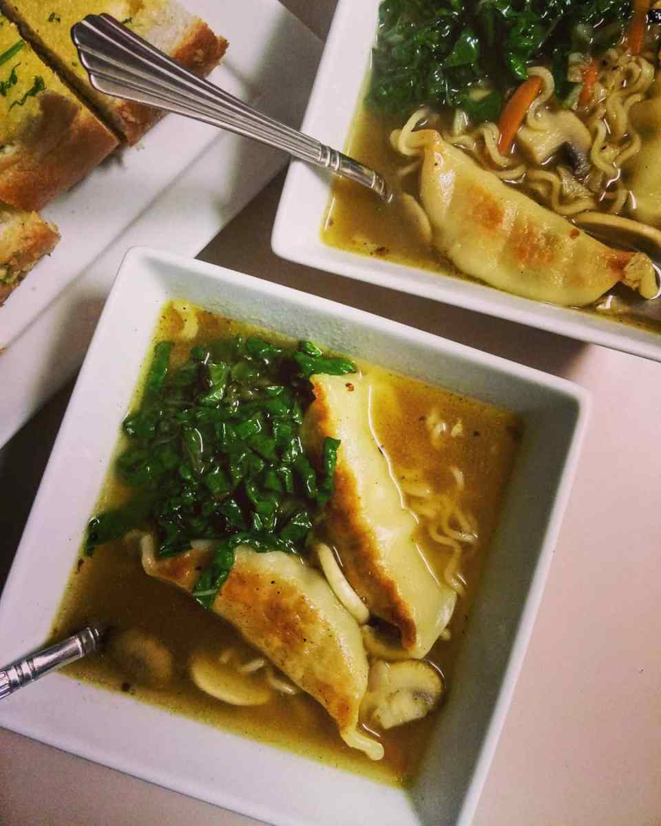 Noodles-Potstickers Soup