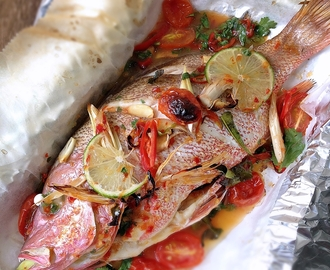 [Recipe] Lime And Chilli Roasted Snapper