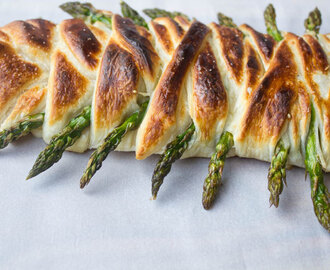 Asparagus Ham and Swiss Danish Braid #SundaySupper