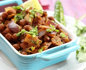 Sukha Kala Channa Massala, Black Chickpeas Curry