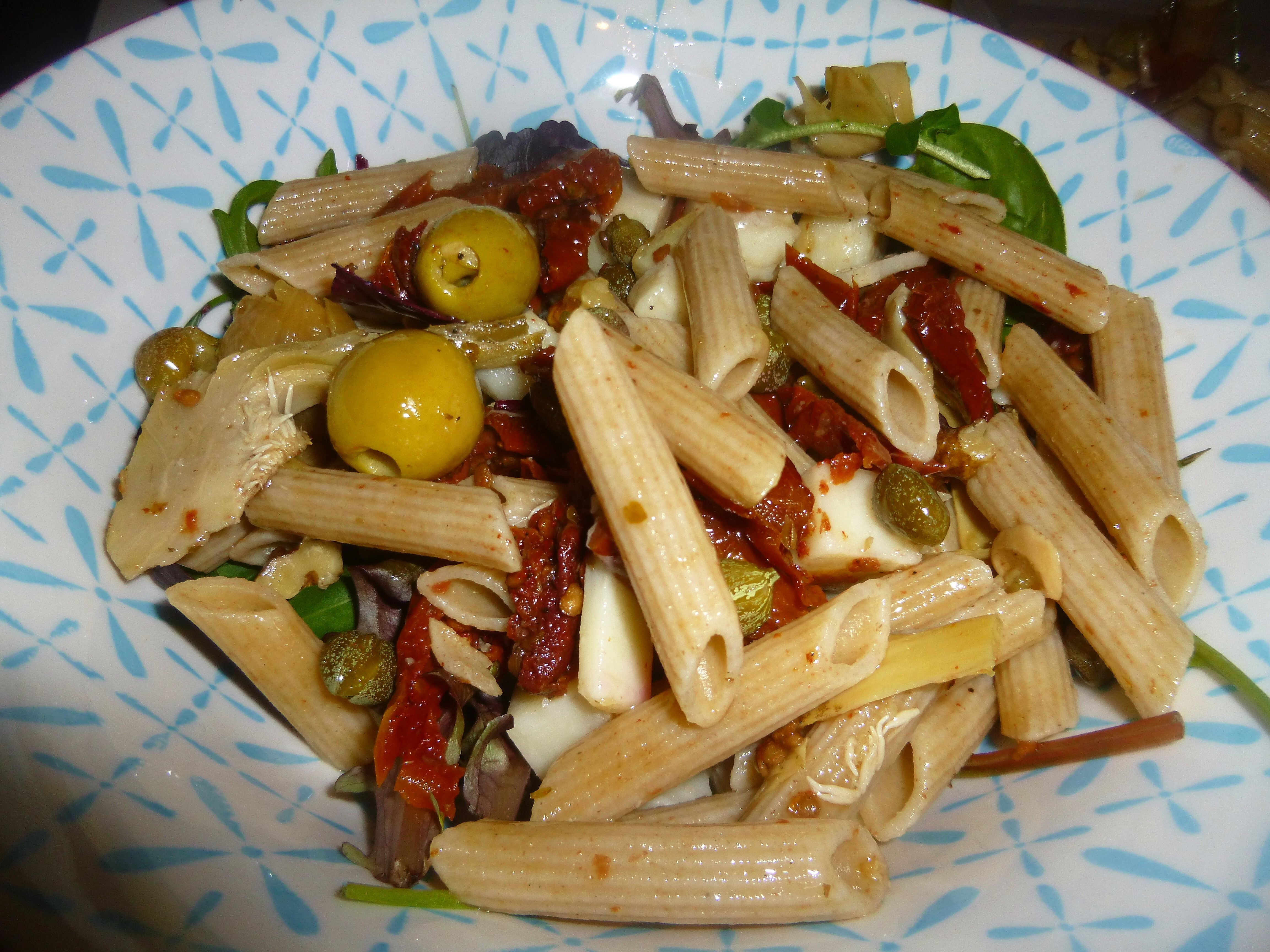 Whole Wheat Italian Pasta and Goat's Cheese Salad with a Lemon and Tarragon Dressing Recipe