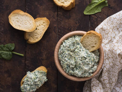 Spinach Artichoke Cheesy Dip