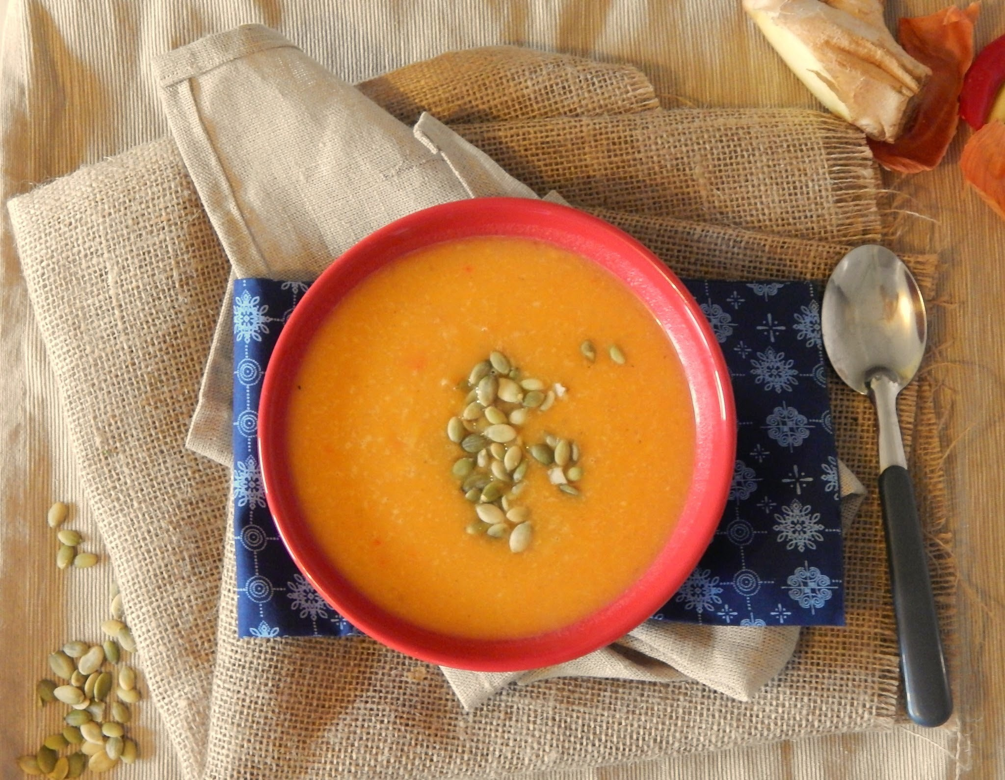 Roasted Pumpkin and Ginger Bisque