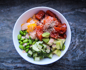 Homemade poké bowl