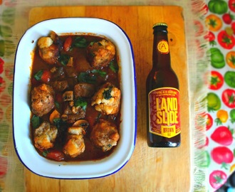 Fyne Ales Beef and Landslide Brown Ale Stew with Sourdough Dumplings