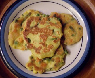 Mixed Vegetables and Asparagus Omelettes