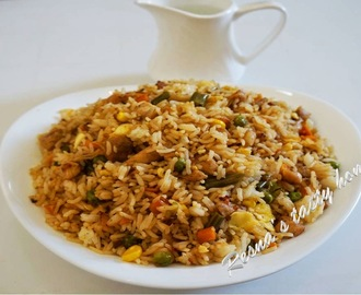 Chicken fried rice - with stepwise picture