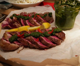 Malse entrecote met homemade chimichurri