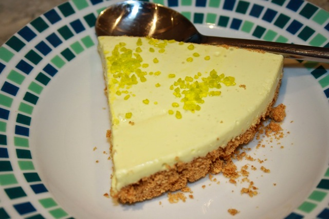 Low Fat Lime Jelly Cheesecake