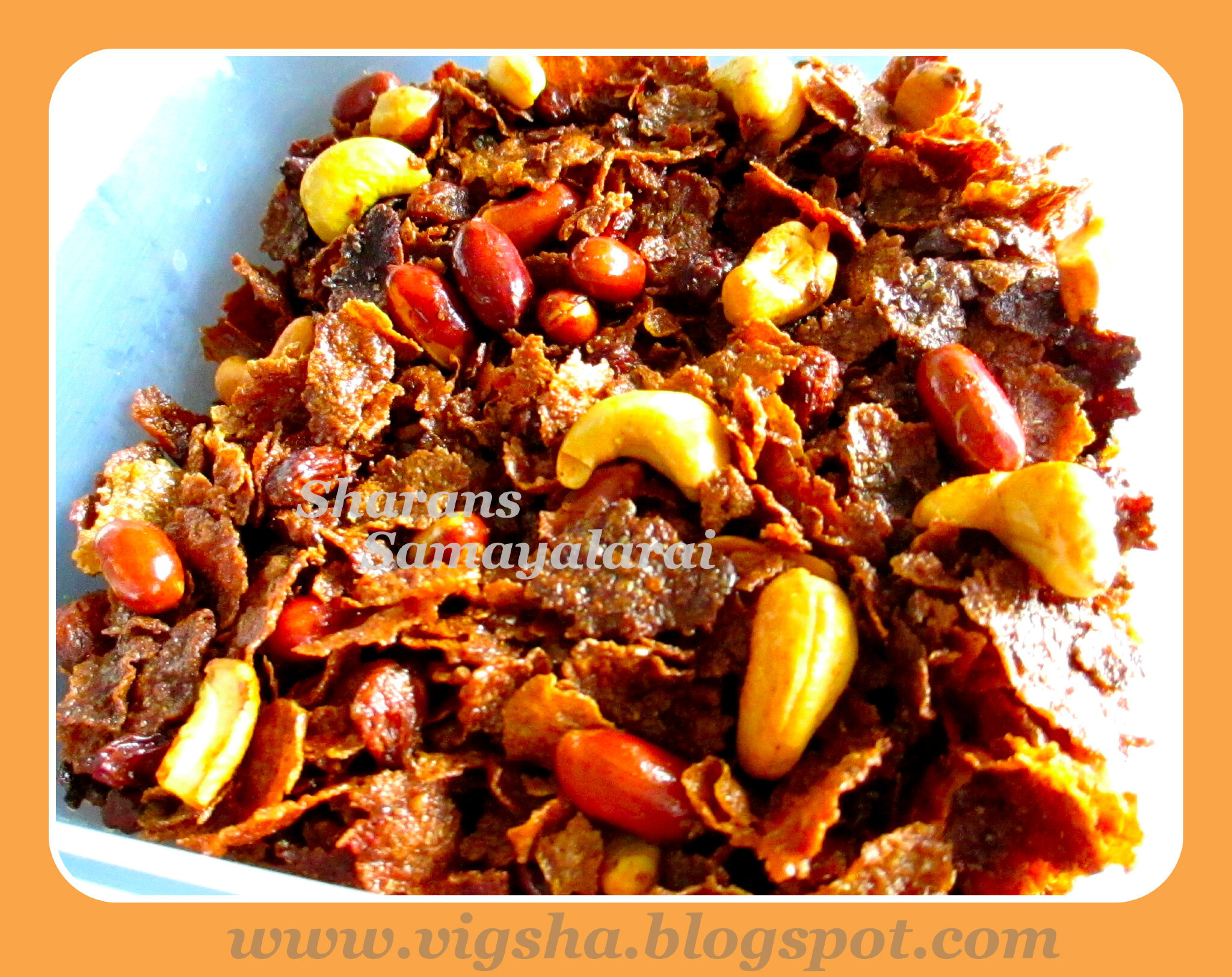 Spicy Cornflakes Mixture / Cornflakes Chivda