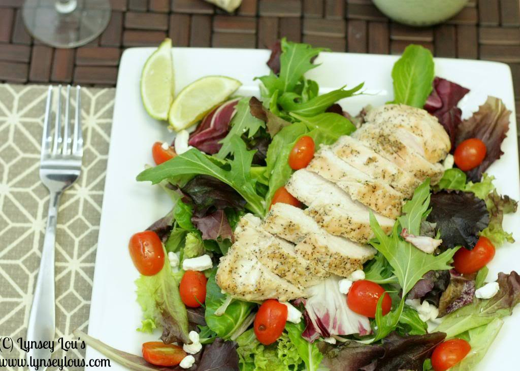 Salad With Garlic Lime Chicken and Goat Cheese