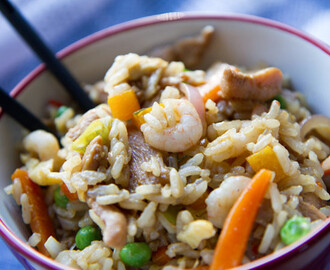 Chicken and Prawn Egg Fried Rice