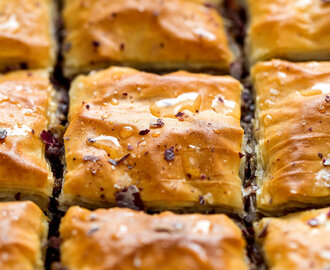 Walnut, Cinnamon and Halloumi Baklava