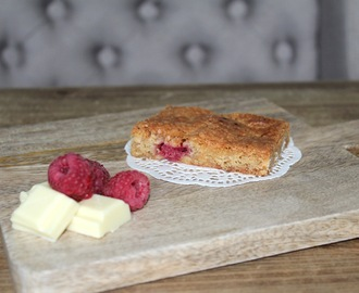 Recipe: White Chocolate Raspberry Blondies